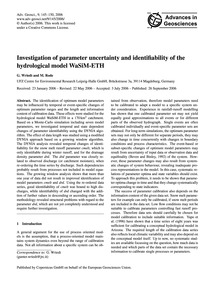 Investigation of Parameter Uncertainty a... by Wriedt, G.