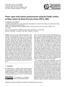 Water Vapor Total Column Measurements Us... by Sarkissian, A.
