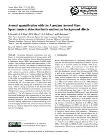 Aerosol Quantification with the Aerodyne... by Drewnick, F.