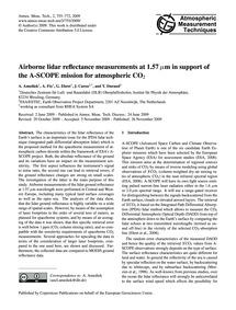 Airborne Lidar Reflectance Measurements ... by Amediek, A.
