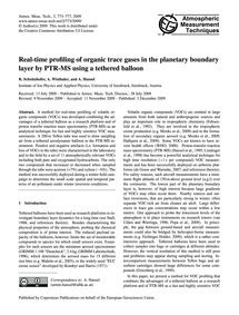 Real-time Profiling of Organic Trace Gas... by Schnitzhofer, R.