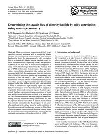 Determining the Sea-air Flux of Dimethyl... by Blomquist, B. W.