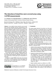 The Detection of Cloud-free Snow-covered... by Istomina, L. G.