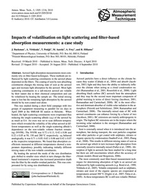Impacts of Volatilisation on Light Scatt... by Backman, J.