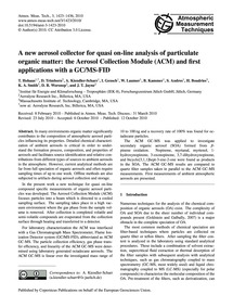 A New Aerosol Collector for Quasi On-lin... by Hohaus, T.