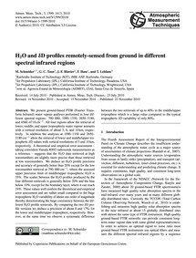 H2O and Δd Profiles Remotely-sensed from... by Schneider, M.