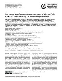 Intercomparison of Slant Column Measurem... by Roscoe, H. K.