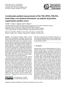 Aerodynamic Gradient Measurements of the... by Wolff, V.