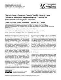 Characterizing a Quantum Cascade Tunable... by Ellis, R. A.