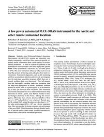 A Low Power Automated Max-doas Instrumen... by Carlson, D.