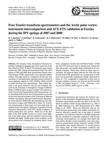 Four Fourier Transform Spectrometers and... by Batchelor, R. L.