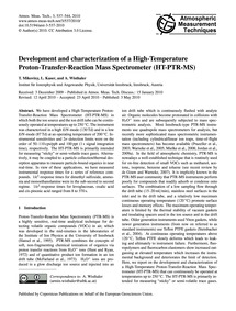 Development and Characterization of a Hi... by Mikoviny, T.