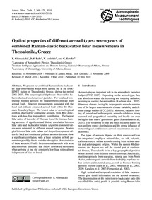 Optical Properties of Different Aerosol ... by Giannakaki, E.