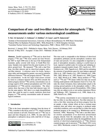 Comparison of One- and Two-filter Detect... by Xia, Y.