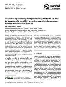 Differential Optical Absorption Spectros... by Rozanov, V. V.