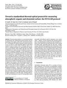 Toward a Standardised Thermal-optical Pr... by Cavalli, F.