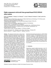 Eight-component Retrievals from Ground-b... by Irie, H.
