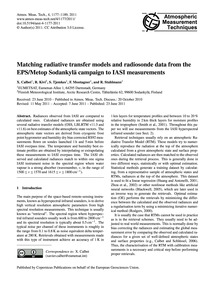Matching Radiative Transfer Models and R... by Calbet, X.