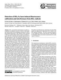Detection of Ho2 by Laser-induced Fluore... by Fuchs, H.