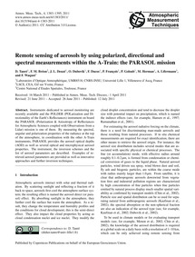 Remote Sensing of Aerosols by Using Pola... by Tanré, D.