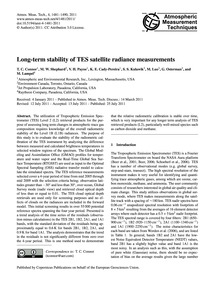 Long-term Stability of Tes Satellite Rad... by Connor, T. C.