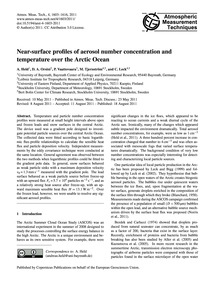 Near-surface Profiles of Aerosol Number ... by Held, A.