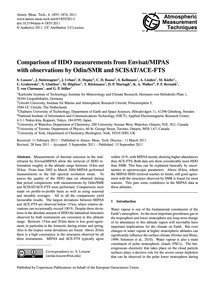 Comparison of Hdo Measurements from Envi... by Lossow, S.