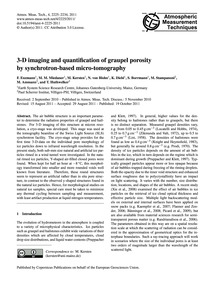 3-d Imaging and Quantification of Graupe... by Enzmann, F.