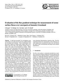 Evaluation of the Flux Gradient Techniqu... by Bocquet, F.