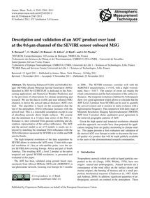 Description and Validation of an Aot Pro... by Bernard, E.