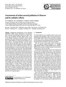 Assessments of Urban Aerosol Pollution i... by Chubarova, N. Y.