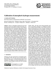 Calibration of Atmospheric Hydrogen Meas... by Jordan, A.