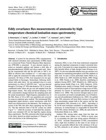 Eddy Covariance Flux Measurements of Amm... by Sintermann, J.