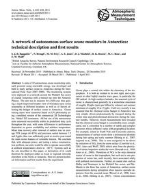 A Network of Autonomous Surface Ozone Mo... by Bauguitte, S. J.-b.
