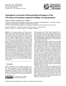Atmospheric Correction of Thermal-infrar... by Meier, F.