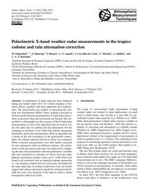 Polarimetric X-band Weather Radar Measur... by Schneebeli, M.
