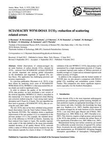 Sciamachy Wfm-doas XCo2: Reduction of Sc... by Heymann, J.