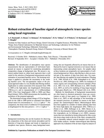 Robust Extraction of Baseline Signal of ... by Ruckstuhl, A. F.