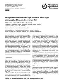 Fall Speed Measurement and High-resoluti... by Garrett, T. J.