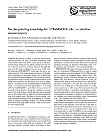 Precise Pointing Knowledge for Sciamachy... by Bramstedt, K.