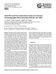 Total Oh Reactivity Measurements Using a... by Nölscher, A. C.