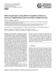 Effect of Spectrally Varying Albedo of V... by Zhu, L.
