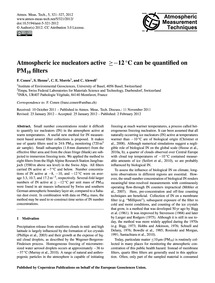 Atmospheric Ice Nucleators Active ≥ −12 ... by Conen, F.
