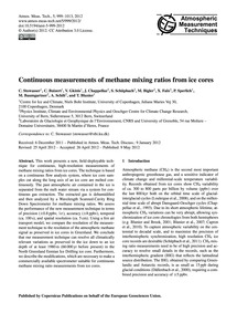 Continuous Measurements of Methane Mixin... by Stowasser, C.