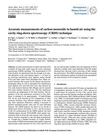 Accurate Measurements of Carbon Monoxide... by Chen, H.