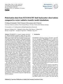 Polarization Data from Sciamachy Limb Ba... by Liebing, P.