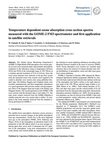 Temperature Dependent Ozone Absorption C... by Chehade, W.