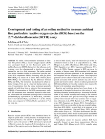Development and Testing of an Online Met... by King, L. E.