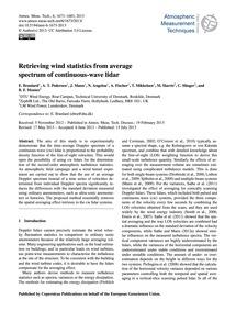Retrieving Wind Statistics from Average ... by Branlard, E.
