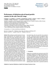 Performance of Diethylene Glycol-based P... by Wimmer, D.